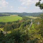 Blick vom Steckensteinkopf auf dem Siegsteig Etappe 11 von Wissen nach Scheuerfeld